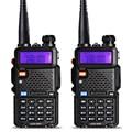 2 unids baofeng uv-5r walkie talkie vhf/uhf 136-174 mhz y 400-520 mhz dual band dos vías de radio uv5r baofeng uv 5r walkie talkie portátil