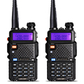 2Pcs BaoFeng UV-5R Walkie Talkie VHF/UHF 136-174Mhz&400-520Mhz Dual Band Two Way Radio Baofeng uv 5r Portable Walkie Talkie uv5r