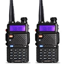 2Pcs BaoFeng UV-5R Walkie Talkie VHF/UHF 136-174/400-520Mhz Dual Band Two Way Radio Transceiver uv 5r Portable uv5r