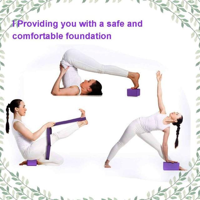 EVA Yoga Block Set Exercise Workout Fitness Brick Bolster Stretch Belt Aid Gym Pilates Training Body Shaping Fitness Equipment 6