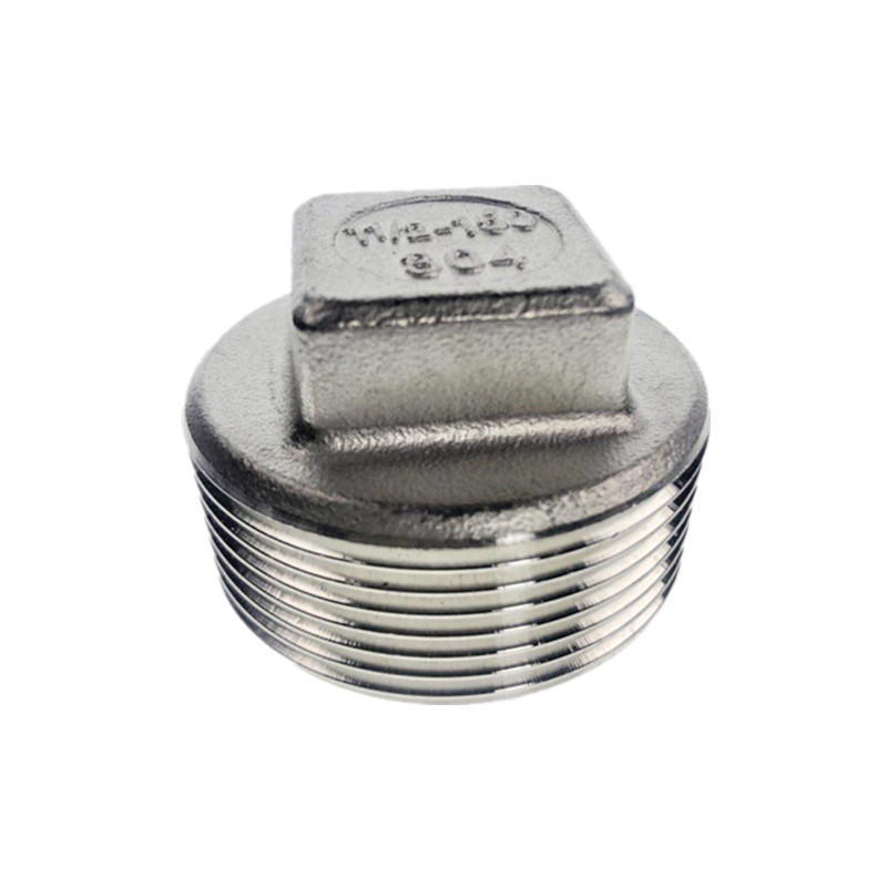 304 stainless steel <font><b>bsp</b></font> <font><b>1/4</b></font> Male screwed connection Plug End Cap Joint Pipe Connection connector Fittings image
