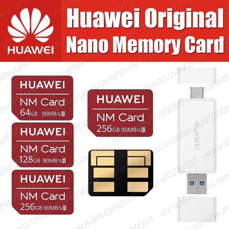 90 100% MB/s Original Huawei NM Cartão Nano 64 GB/128 GB/256 GB Aplicar para Mate20 Pro 1 Mate20 X Com USB3.1 Gen Leitor de Cartão