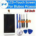Picasso Bluboo Pantalla LCD + Pantalla Táctil + Herramienta de Alta Calidad 100% Nuevo Panel de la Pantalla de Cristal Digitalizador Para Bluboo Picasso 4G 5.0 Pulgadas