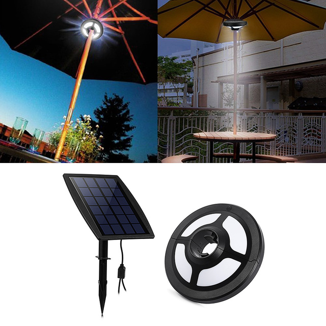 36 Leds Portable Patio Umbrella Light 2 5w 6v Solar Panel And Usb Rechargeable Lamp For