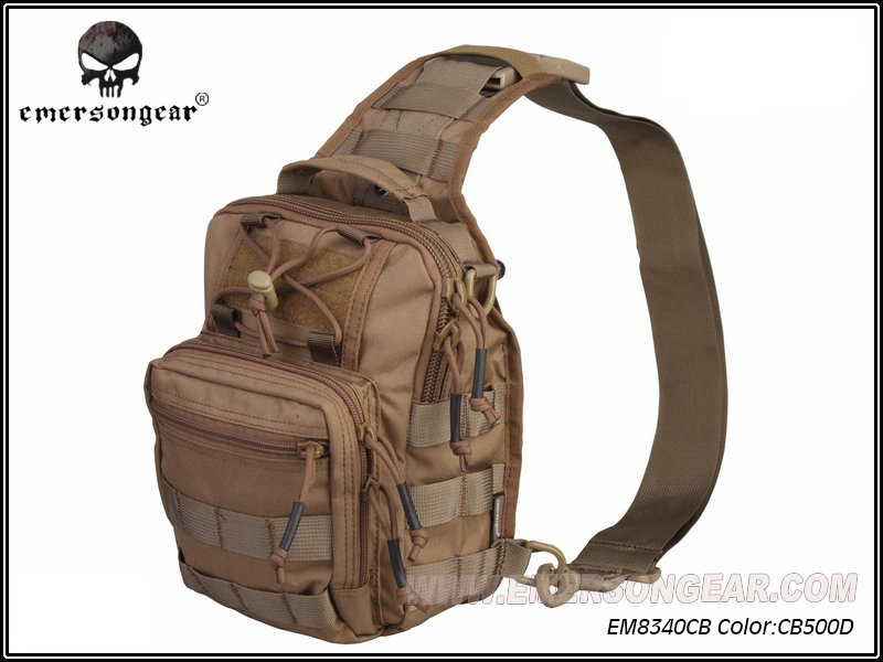 ФОТО Emerson 500D Molle Outdoor Sport Chest Pack Bag Hiking Travel Pack Crossbody Bag Men Shoulder Bag Hunting Accessories EM8340 CB^