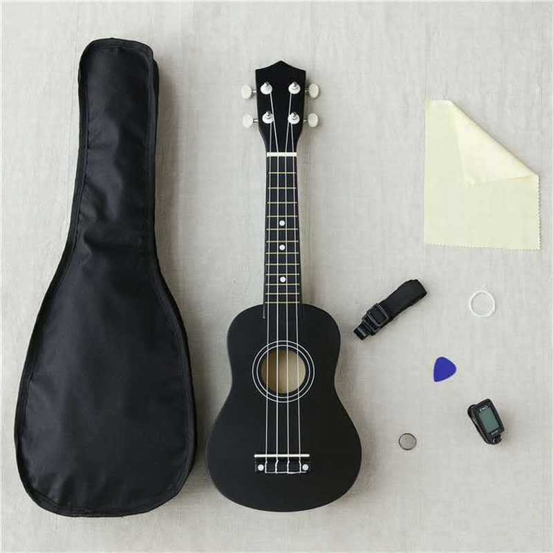 """Analytical Multiple Colors 21"""" Soprano Ukulele Basswood Nylon 4 Strings Guitarra Acoustic Bass Guitar Outfit Musical Instrument For Beginne Attractive Designs;"""