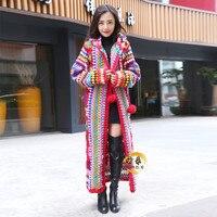Бесплатная доставка Новинка 2019 года 100% шерстяное пальто для женщин большие размеры Свободная верхняя одежда с длинным рукавом Макси