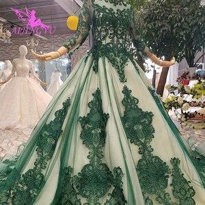 Image 4 - AIJINGYU فساتين فاخرة على الانترنت ثوب أبيض طويل لحفلات الزفاف عينة حقيقية الزفاف كوريا الدانتيل 2021 2020 فساتين الغجر فستان الزفاف