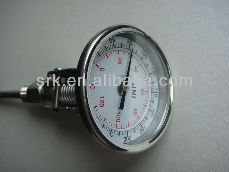""""""" дюймовый регулируемый биметаллический термометр из нержавеющей стали, SS304, 0-120C"""
