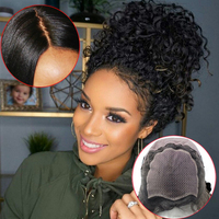 Eseewigs Silk Base Full Lace Wigs Human Hair Brazilian Remy Glueless Wigs for Black Women Deep Curly Full Hand Made Silk Top Wig