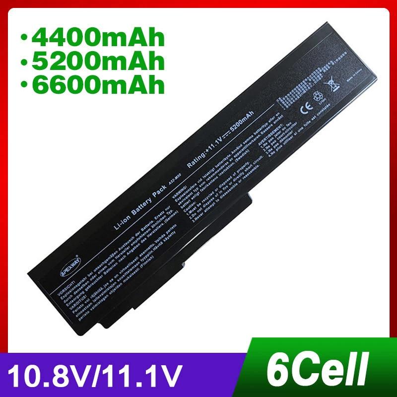 4400 mAh batterie d'ordinateur portable pour Asus X57 X57Q X57S X57SR X57V X57VC A32-N61 X64 X64J X64JA X64JQ X64JV X64V X64VG n53