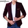 Новый Slim fit Куртки мужские Пиджак Вельвет Моды Роскошь Бизнес Случайный Костюм Мужской пиджак мужской Пиджак Мужчины