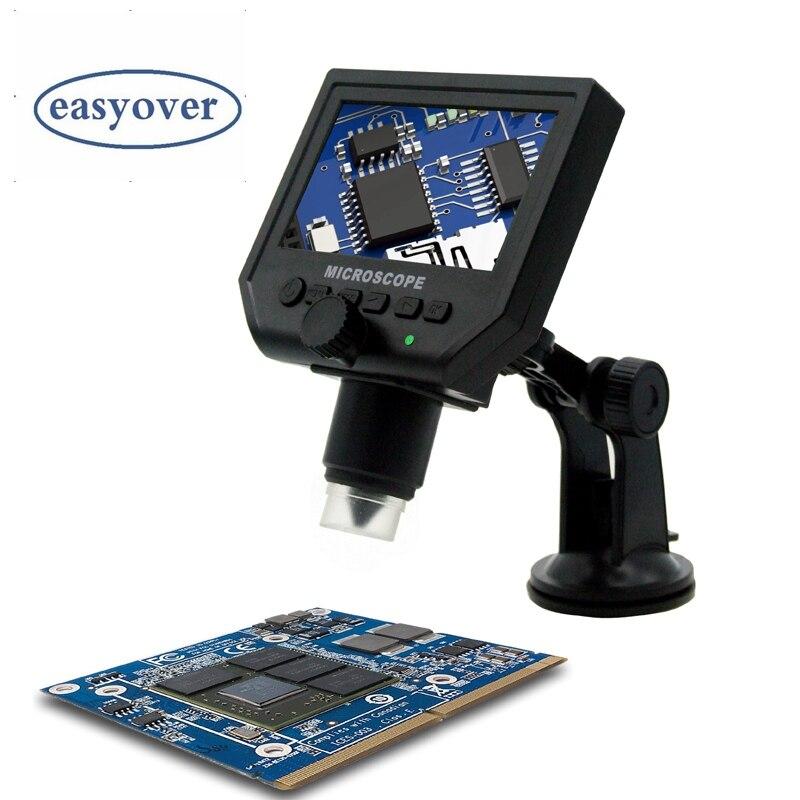 600x Цифровые микроскопы мобильного телефона поддерживать Лупа 4.3 ЖК-дисплей электронный видео HD Микроскопы Перезаряжаемые эндоскопа Камер...
