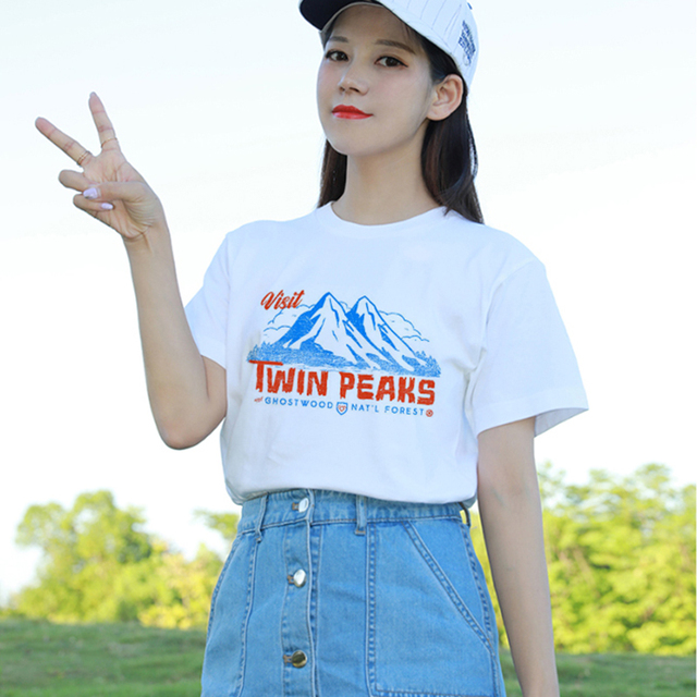 b605ac84f1bf 90s Style Twin Peaks 2018 Fashion Women Summer Grunge Cute Graphic Tee  Casual tshirts Short Sleeved