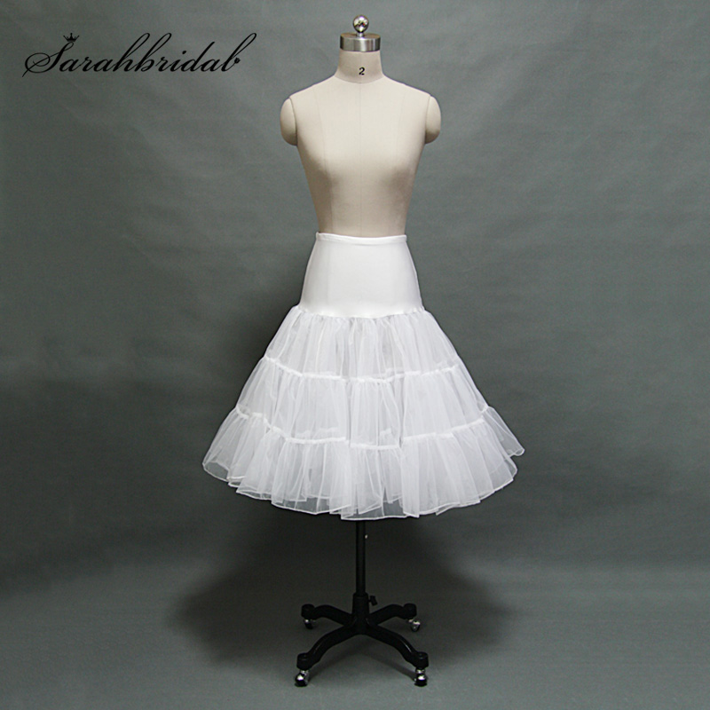 Popular 3 Layer Petticoat Tea Length Short Swing Tutu Skirt Prom Slips Crinoline Bridal Accessories Rockabilly Underskirt 12018