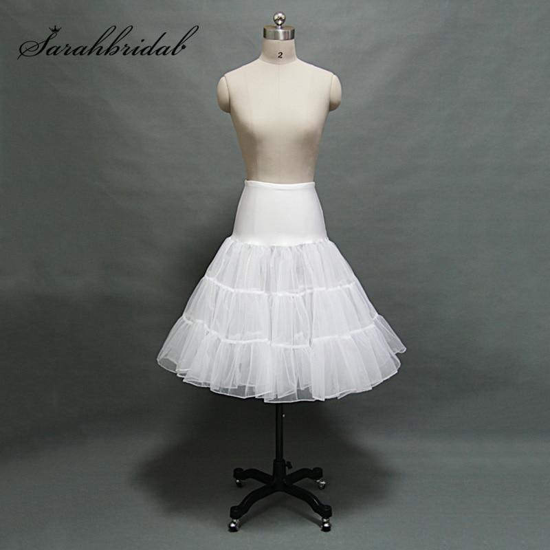 7fbba4660d4b7 Popular 3 Layer Petticoat Tea Length Short Swing Tutu Skirt Prom Slips  Crinoline Bridal Accessories Rockabilly