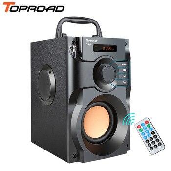 TOPROAD Wireless Bluetooth Speaker Stereo Subwoofer Bass Speakers Column Soundbox Support FM Radio TF AUX USB Remote Control