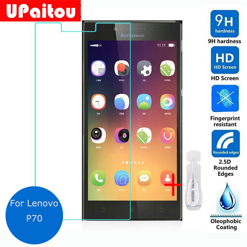 UPaitou Glass For Lenovo P70 Tempered Glass Screen Protector 2.5 9h Safety Protective Film on P 70 P70-t Dual Sim TD-LTE