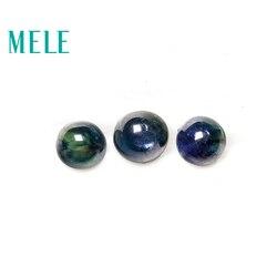 MELE Doğal Mavi Safir gevşek taş takı yapımı için, 3mm-5mm Yuvarlak 1.9ct 3p güzel takı DIYstones Yüksek kalite ile