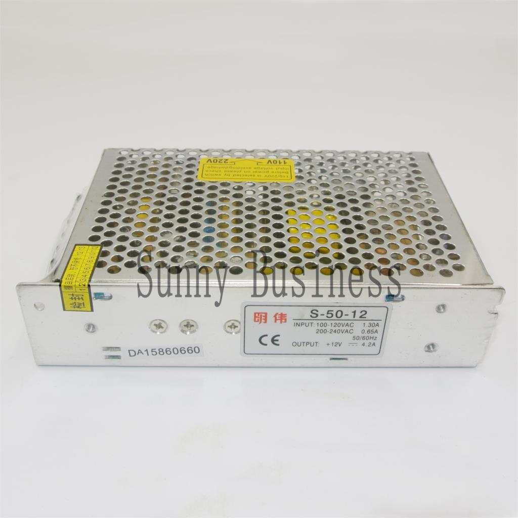 S-50-12 12V 4.2A 50W LED Switching Power Supply Transformer 110V 220V AC to DC12V output, for LED Strip light for CCTV s 50 12 50w 12v 4a single output ac dc switching power supply for led strip voltage converter 110v 220v to 12v led driver
