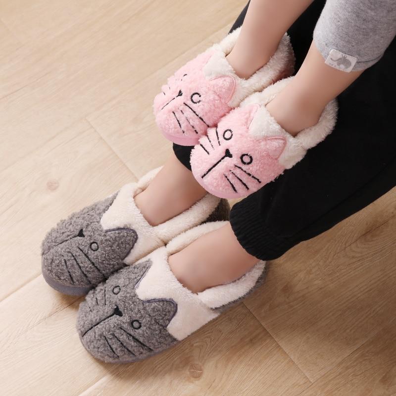 Cute Fluffy Cat Slippers 2