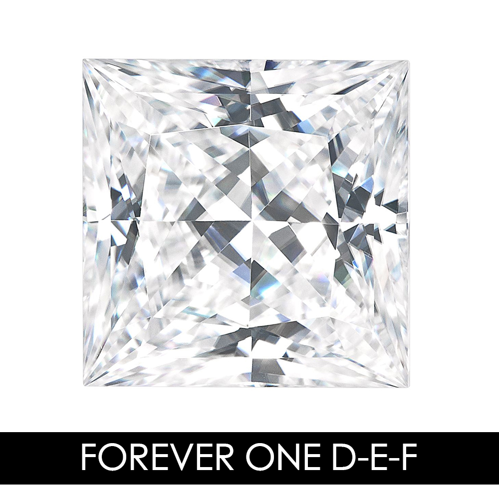 6.5 mm 1.5 CARAT 57 Facets Princess Moissanites Loose Gemstone D-E-FColor Charles & Colvard USA Created Moissanites REAL6.5 mm 1.5 CARAT 57 Facets Princess Moissanites Loose Gemstone D-E-FColor Charles & Colvard USA Created Moissanites REAL
