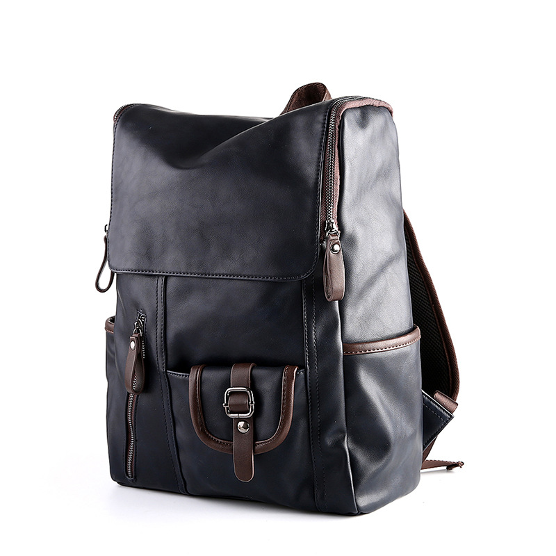 d29db1e805 Aliexpress.com   Buy 2017 Men s Leather Backpack Schoolbag For Teenager  Solid Leather Backpacks men Large capacity Travel Laptop Backpack mochila  from ...