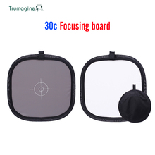TRUMAGINE 30CM Portable Foldable Gray Card Light Reflector White Balance Double Face Focusing Board with Carry Bag