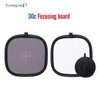TRUMAGINE 30CM Portable carte grise réflecteur de lumière Balance blanche Double Face planche de mise au point avec sac de transport