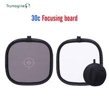 TRUMAGINE 30CM אפור נייד כרטיס אור רפלקטור איזון לבן כפול פנים התמקדות לוח עם לשאת תיק