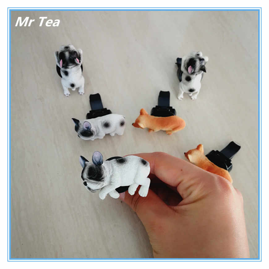 MR ÇAY Sevimli Köpek Husky çarpma sensörü Havalandırma Hava Spreyi Parfüm Klip Şekil Oto İç Dekorasyon Oyuncak Aksesuarları
