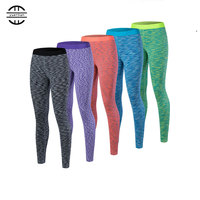 New YEL Y5030 High Elastic Running Pants Compression Tight Skinny Suits Fitness Gym Exercise Training Sports