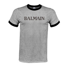 Balmain Paris T Shirt Men Fashion Letter T-Shirt 100%Cotton Short Sleeve  Shirts