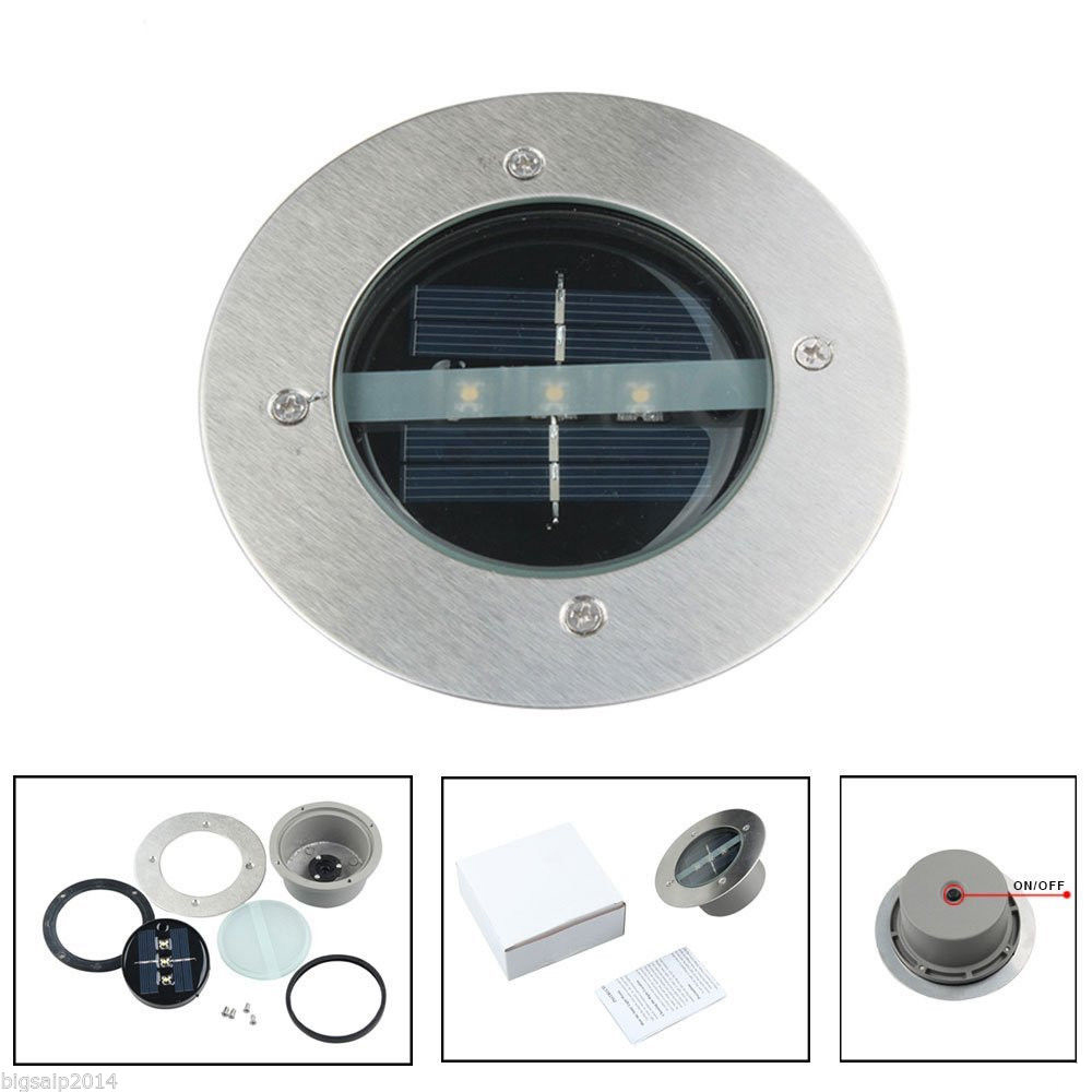 Ship by dhl10pcs led outdoor solar ground spot night light for Outdoor ground lighting