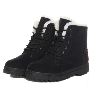 Women Boots 2018 Winter Shoes Women Super Warm Fashion Brand Cross-Tied Ladies Casual Shoes Women Ankle Boots For Woman Shoes