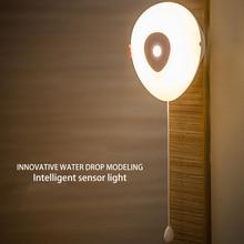 Water droplets PIR Body Motion Sensor Activated Wall Light Night Light Induction Lamp Closet Corridor Cabinet led Sensor Light цена в Москве и Питере