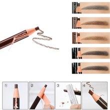 3 Pcs/Set Brand Eyebrow Pencil Waterproof Tattoo Pen Soft Coloured Long Lasting Natural Makeup