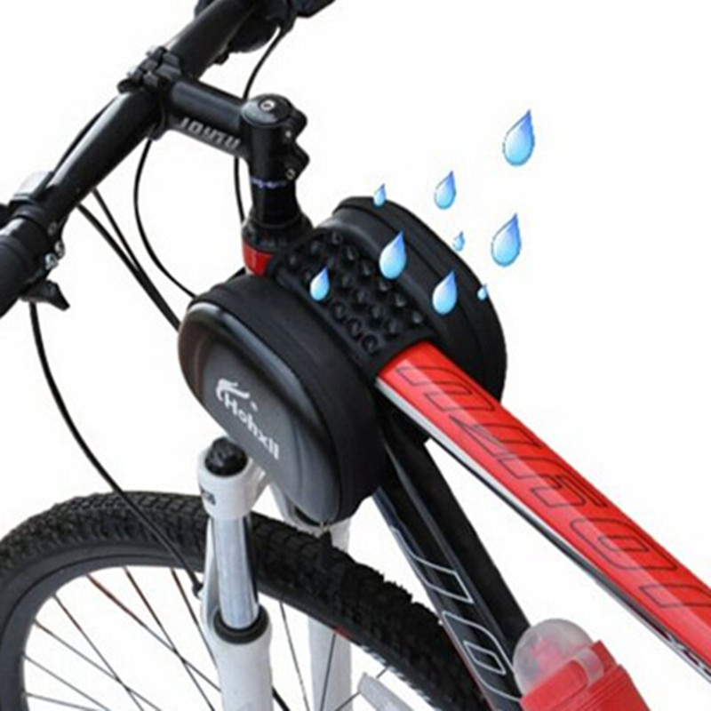 Waterproof Bicycle Top Tube Front Frame Bags Mountain Bike Double