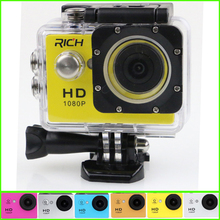 10pcs RICH D9 Waterproof Full HD 1080P Action Camera Wifi For Gopro Hero Action Sports Camera LTPS LED 90 Degree fast ship dhl