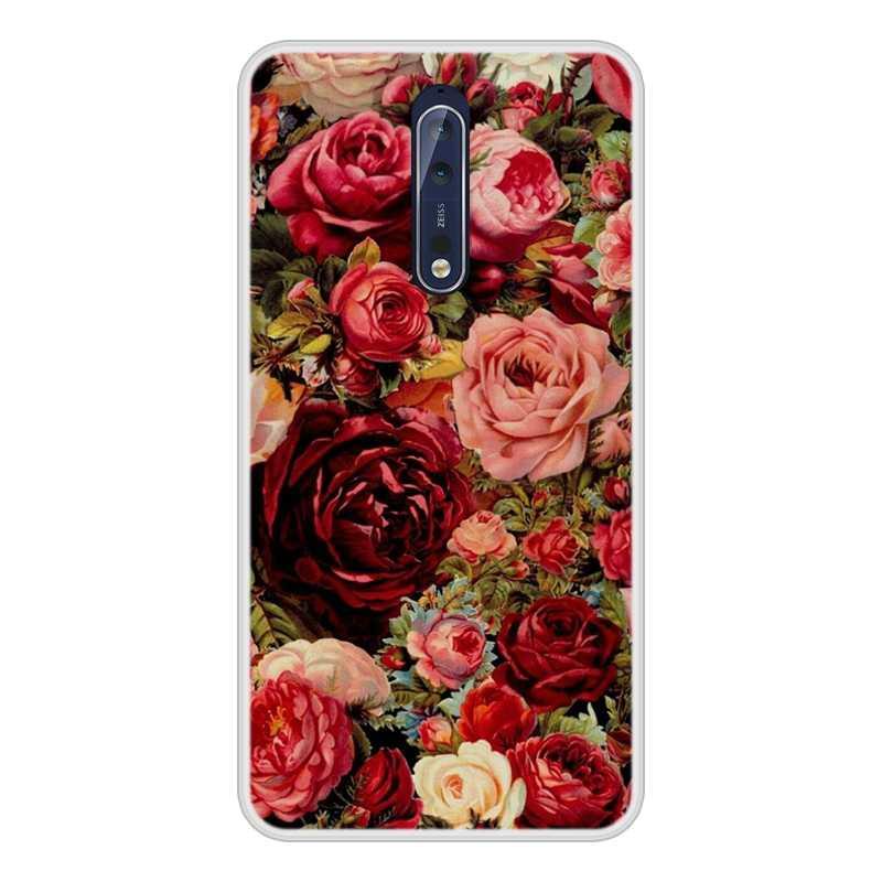 جراب هاتف مطبوع على الموضة لهاتف نوكيا 6.1 7.1 5.1 3.1 2.1 حافظة من السيليكون الناعم لهاتف نوكيا 7.1 6.1 5.1 3.1 2.1 Plus