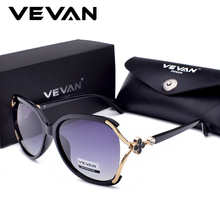 VEVAN 2018 High Quality Polarized Sunglasses Women Brand Designer UV400 Gradient Sunglass Fashion Sun Glasses oculos With Box