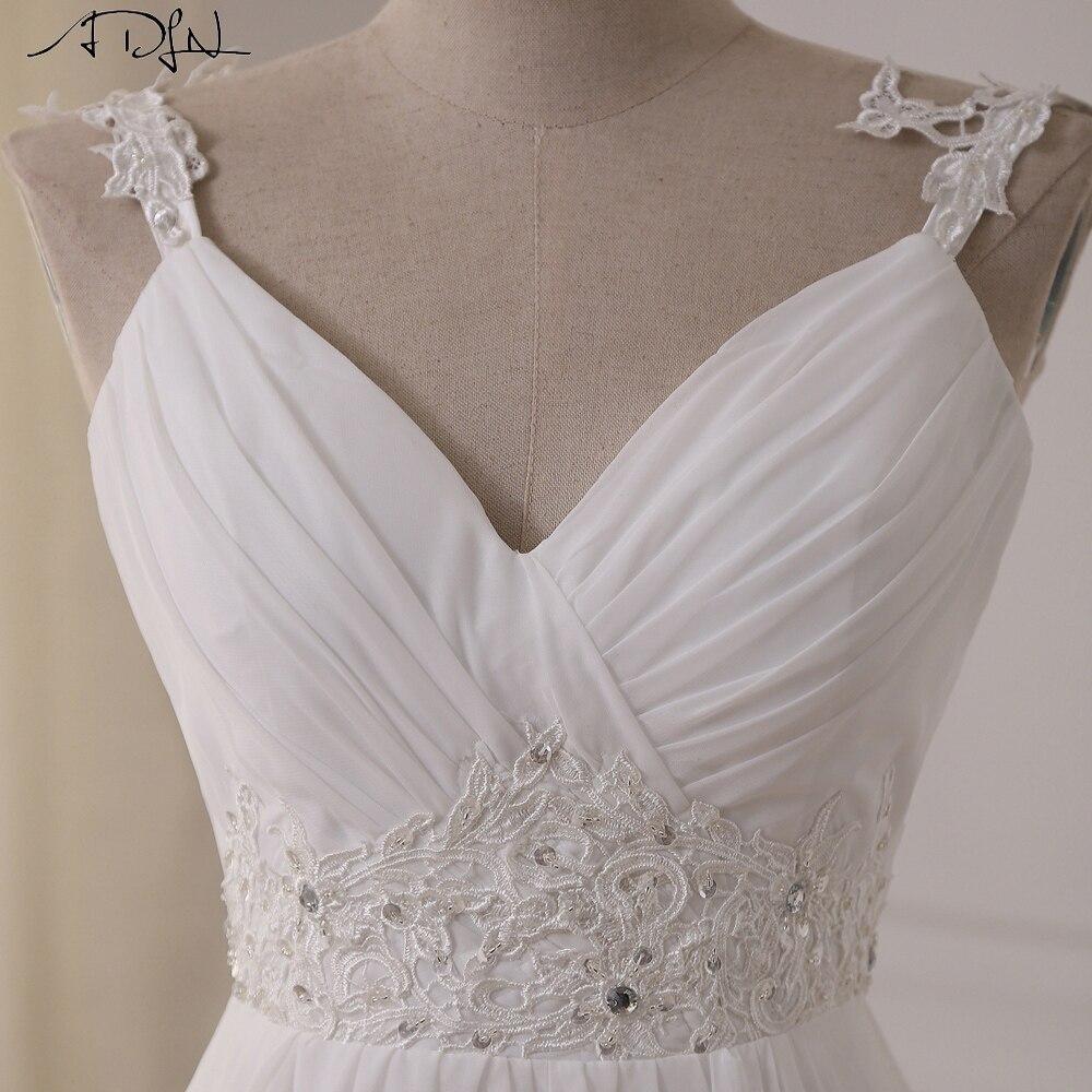 ADLN pludmales kāzu kleita 2017 Pieejams Plus izmērs Spageti - Kāzu kleitas - Foto 3