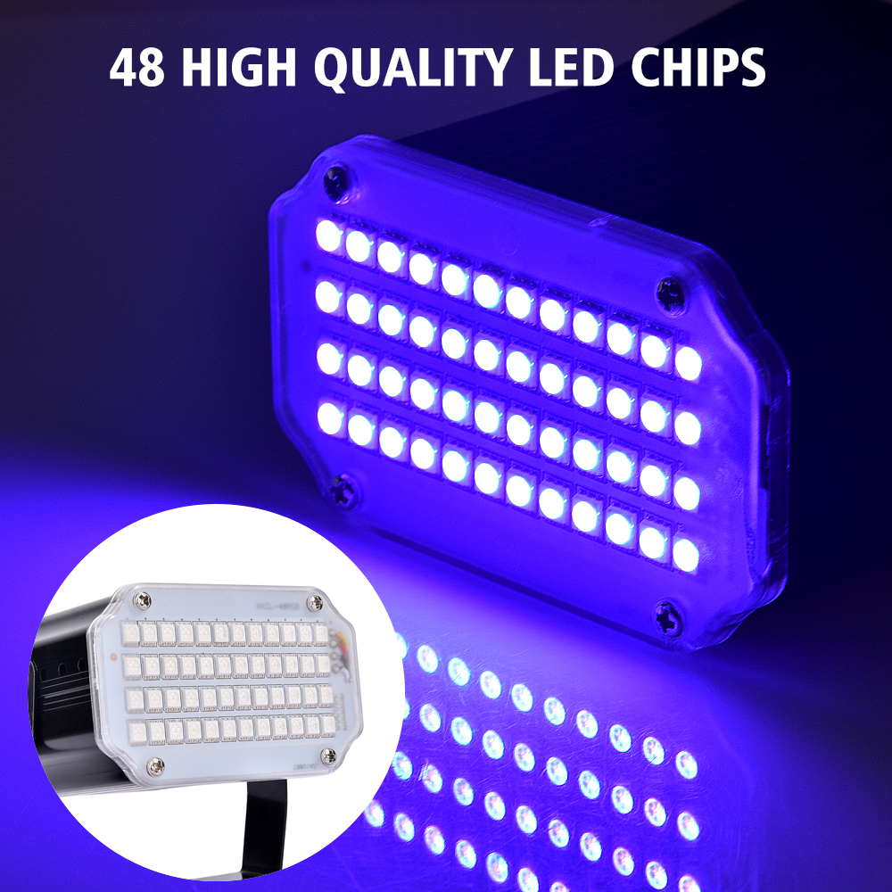 Strobe Stage Light Disco Bar Music Party 48 RGB Remote Control Mini Stage Lights Festival Glow Party Supplies Carnival Lighting (6)