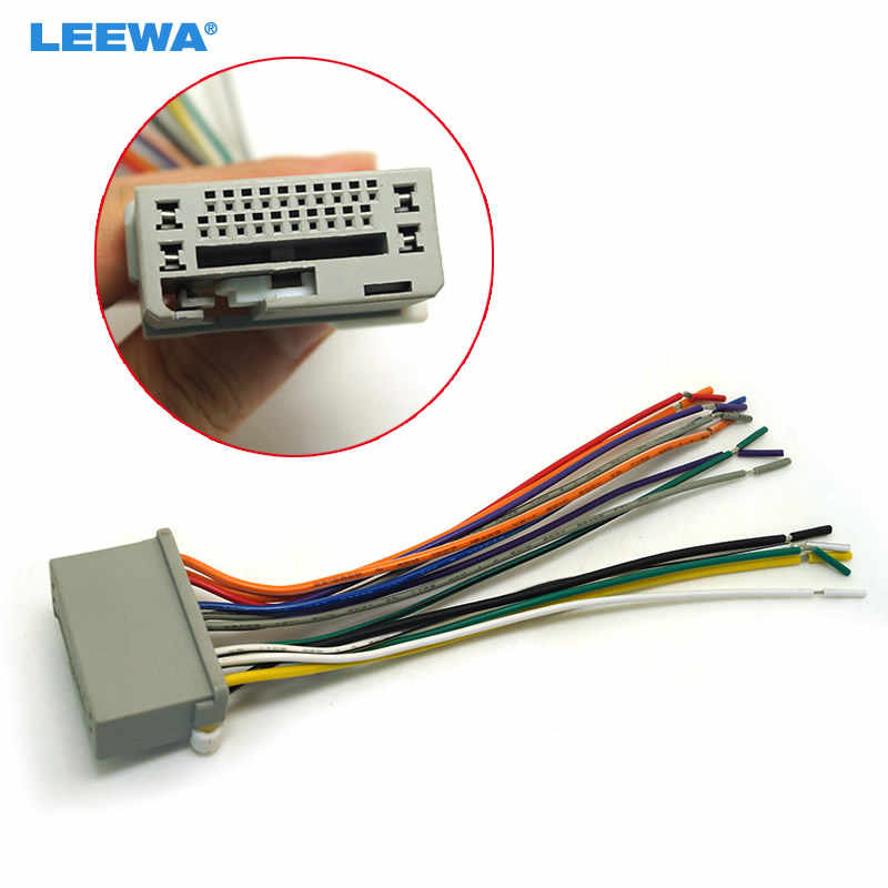 LEEWA Car Audio Stereo Wiring Harness For HONDA Accord/Crosstour/Civic/CRV/Fit on