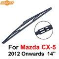 Qeepei lâmina do limpador traseiro sem braço para mazda cx-5 2012 a partir de 14 ''5 porta SUV Iso9000 Alta Qualidade de Borracha Natural A1-35