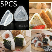 Kitchen Practical 5 Sets Form Sushi Mould  DIY Onigiri Rice Ball Bento Press Maker Mould  Sushi Tool