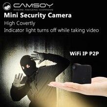 CAMSOY C1 IP Câmera Escondida Sem Fio Mini Câmera HD720P Wearable corpo Da Câmera Espia Micro Câmera Com Clip Magnético de Alarme Mini DV