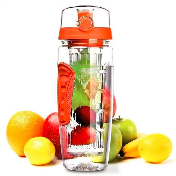 6 Colors Tritan Material Juice Bottle Leak-Proof Fruit Infuser Bottles Sports Shaker Climbing Travel Water Bottle Eco-Friendly