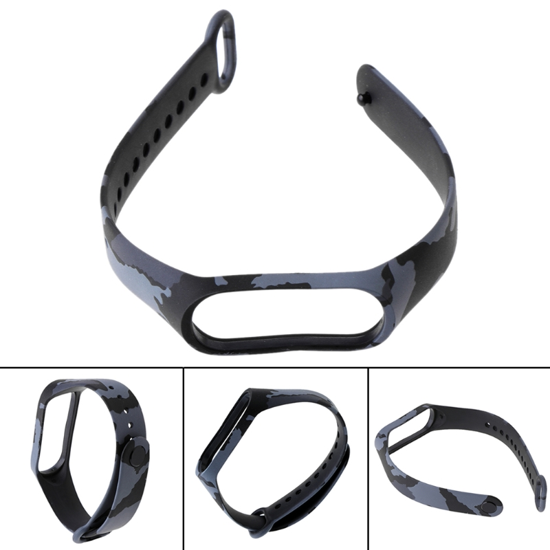 OOTDTY Camouflage Replacement Silicone Wrist Strap Watch Band For Xiaomi MI Band 3 Smart Wearable Wristband Accessories