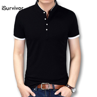 ISurvivor 2017 Men Summer Short Sleeved Smart Casual T Shirts Tees Tops Camiseta Masculina Male Fashion